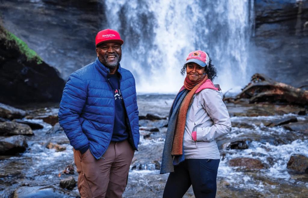 Earl B Hunter and Sahra Ali at Looking Glass Falls